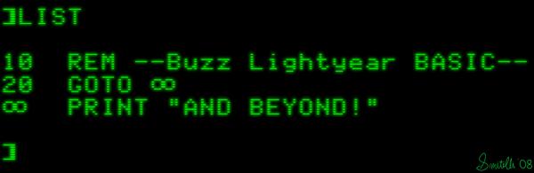 Buzz Lightyear BASIC