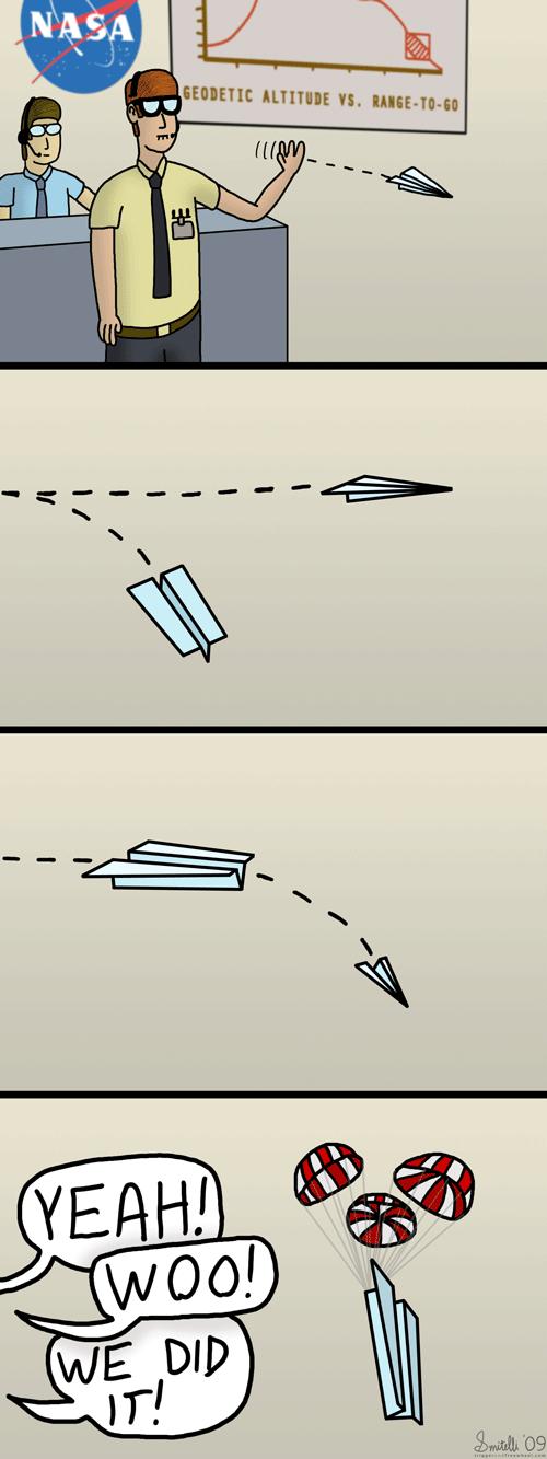 Paper Airplanes at NASA