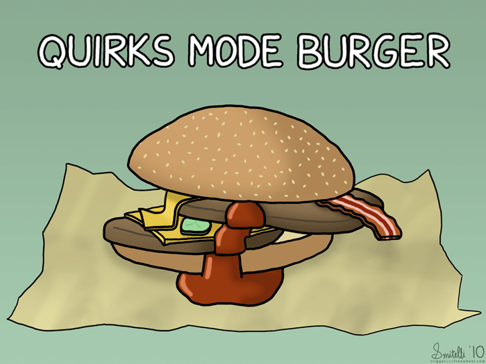 Quirks Mode Burger